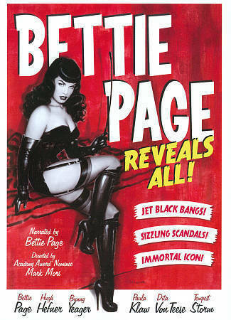 BETTIE PAGE Reveals All! (DVD, 2002)