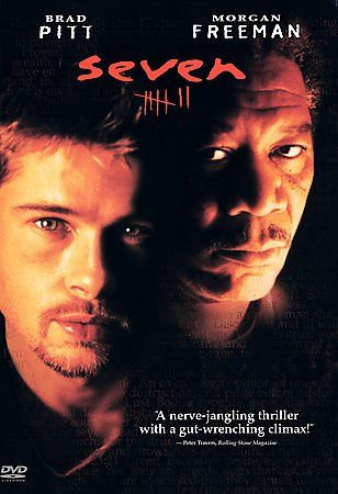 SEVEN (DVD) Morgan Freeman, Brad Pitt, Gwyneth Paltrow, Kevin Spacey