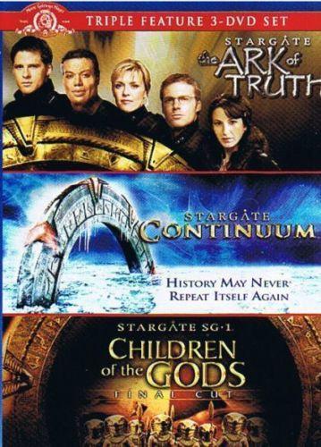 USED-Stargate Triple Pack Ark of Truth,Continuum,Children of Gods (DVD-triple fe