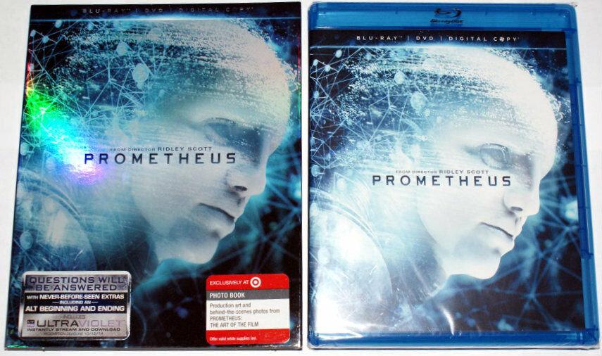 USED-Prometheus (Blu-ray + DVD, 2-Discs)  In slip jacket