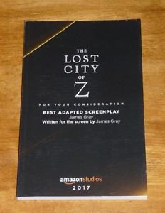 FYC 2017 The Lost City of Z For Your Consideration 2017 RARE amazonstudios DVD