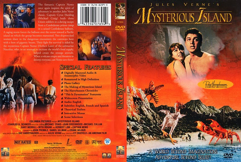 Mysterious Island 1961 (DVD, 2002)-RARE AND OUT OF PRINT  Jules Verne's