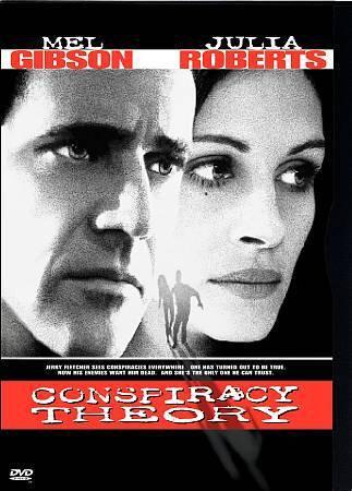 Conspiracy Theory (DVD, 1997) Mel Gibson,Julia Roberts w/snap case