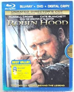 USED-Robin Hood: Unrated Director's Blu-Ray + DVD  In slip jacket