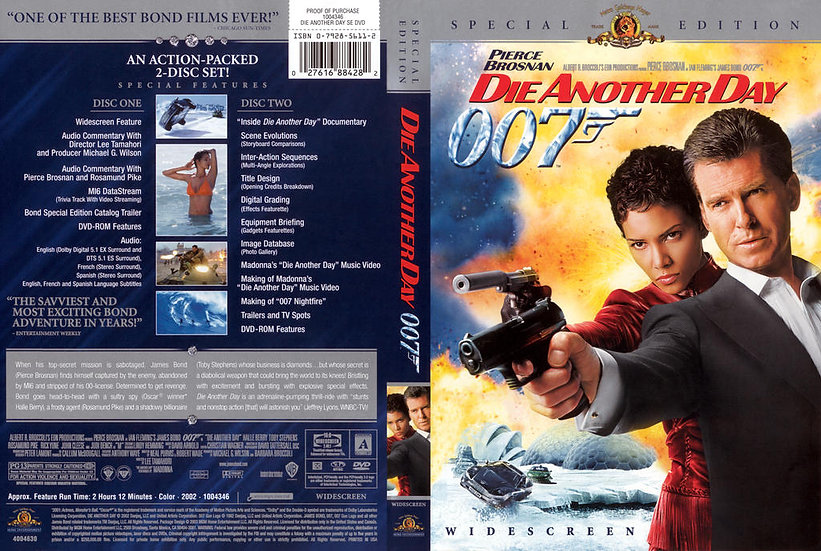 USED-Die Another Day (DVD, 2003, 2-Disc Set, Special Edition; Full Frame)  Pierc