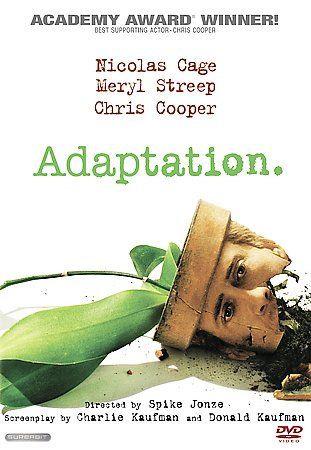 USED-Adaptation (DVD)  Nicholas Cage  Meryl Streep  Chris Cooper