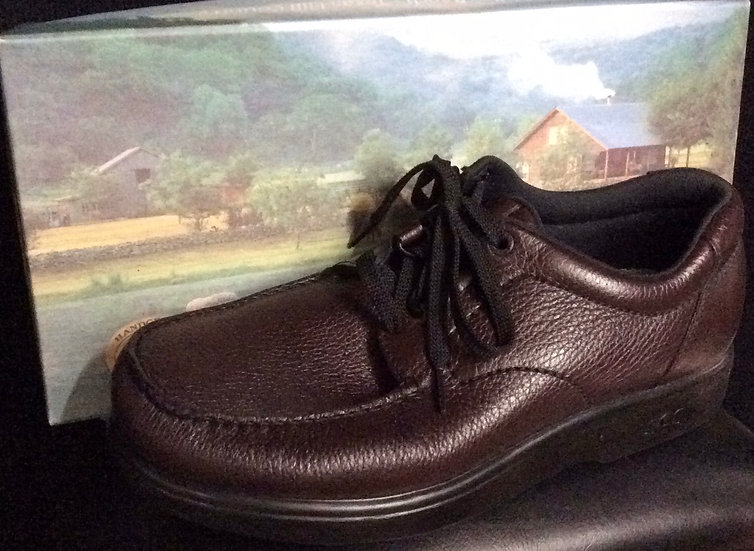 "NIB-Men's SAS ""Bout Time"" Comfort Shoes - Brown - Diabetic, Support Walk"