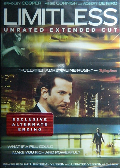 LIMITLESS- UNRATED EXTENDED (DVD 2011 WS) Exclusice Alternative Ending B