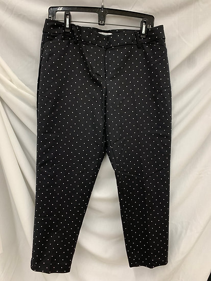 Women's Size 12P Black Polka Dot Emma Pants By Liz Claiborne