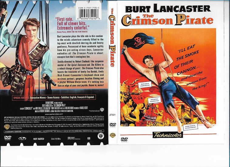 The Crimson Pirate DVD Burt Lancaster