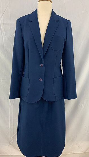 Haberdashery by Personal Women`s size 10 Blue 2 piece suit Jacket/Skirt