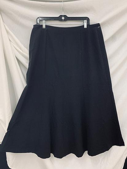 East 5th Women's Skirt Size 14 Black A-Line Flare Bottom Career Work Business