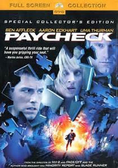 Paycheck (DVD, 2004, Fullscreen Region 1) Special Collector's Edition
