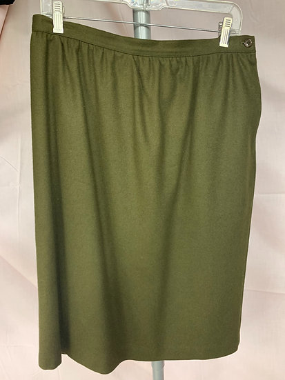Alfred Dunner Women's size 16 Wool Stretch Waist Skirt