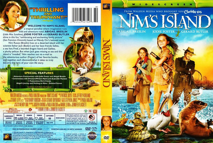 Nim's Island (Widescreen Edition, DVD, 2009)  Abigail Breslin, Jodi Foster/Geral
