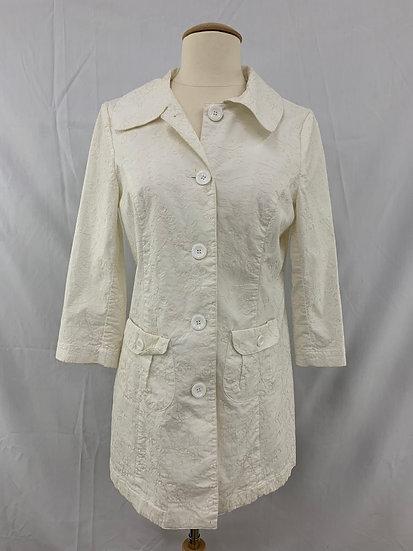 Goki Geki American Brand Ivory Blazer jacket size M w/thread detail