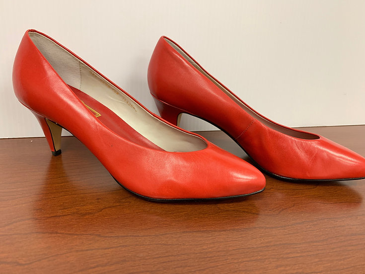 Worthington Victoria Red Pumps Heels size 7.5W