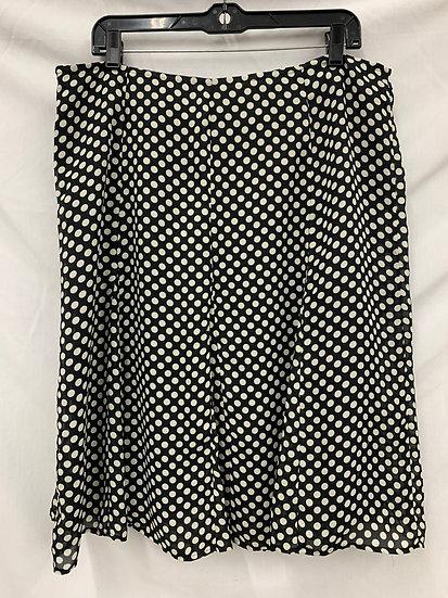 RB Collection New York bLACK  Skirt size 14 White Poka Dots