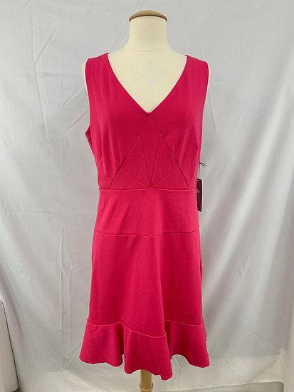 NWT Jennifer Lopez size 12 Rivera Chic Dress Electric Pink Sleeveless