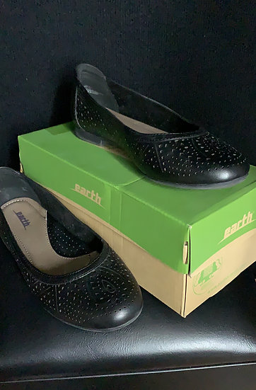 Earth Royale Womens Black soft Leather Ballet Shoes Casual Shoes Flat si