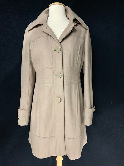 Kenneth Cole New York Ladies Sz 6 Taupe Wool Blend Coat