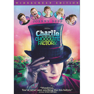 Charlie and the Chocolate Factory (2005, Widescreen Edition) Johnny Depp