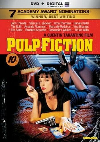 Pulp Fiction ( DVD 2014) 1994  DVD + Digital Ultraviolet  7 Academy Awar