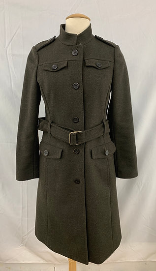 Travel & Safari Cloth Co size XS Women`s Dark Green  Belted Wool Blend Correspon