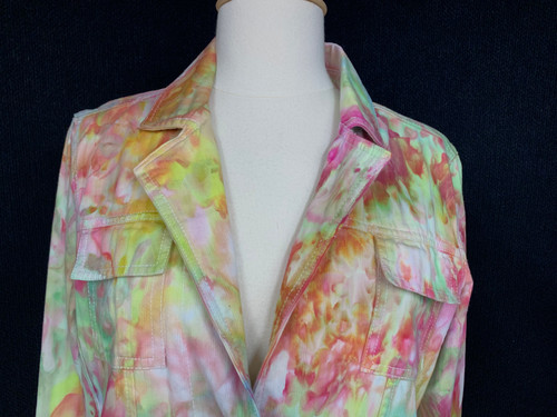 0835595bff STO Womens size M JACKET size M Color Wash Jacket green pink white  Susquehanna