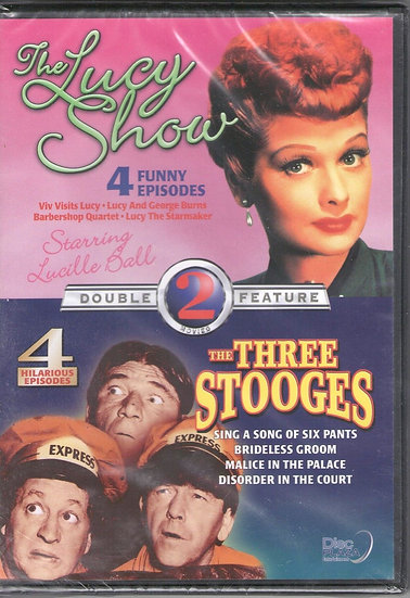 NEW The Lucy Show 4 Episodes / The Three Stooges 4 Episodes (Dvd)