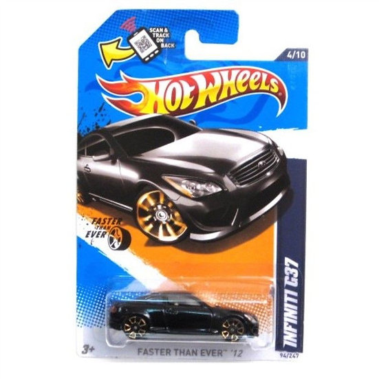 Hot Wheels Infiniti G37 Black 2012 Faster Than Ever Card 94/247