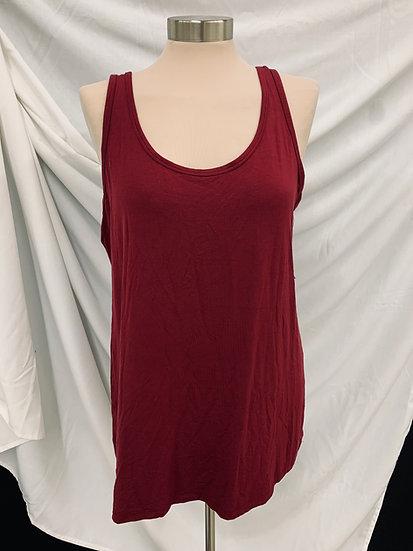NWT Lane Bryant size 14/16 Burgundy Sleeveless Stretch Top Shirt Spring Summer