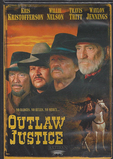OUTLAW JUSTICE (DVD 2003)  Kristofferson/Willie Nelson/Waylon Jennings/Travis Tr