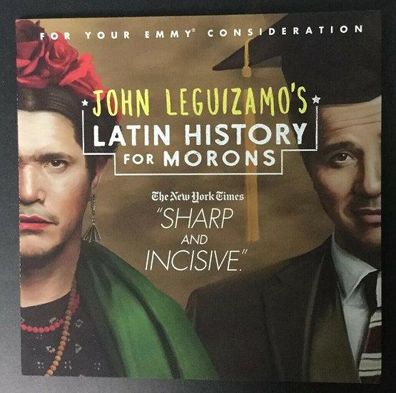 FYC 2019 John Leguizamo Latin History For Morons 2019 NETFLIX Emmy FYC DVD (1) C