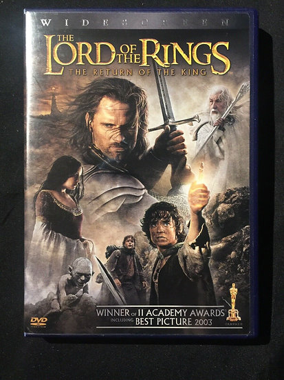 THE LORD OF THE RINGS, THE RETURN OF THE KING (DVD)  Winner of 11 Academy Awards