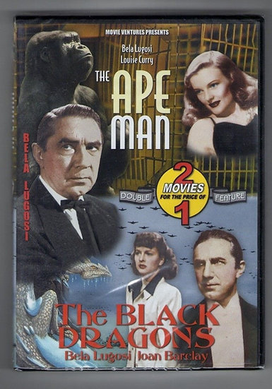 The Ape Man/The Black Dragonsi 2 Movie Set (DVD) Bela Lugos/Louie Curry/