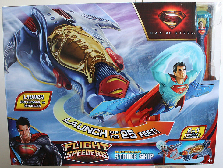 NIB Launch Superman or Missiles, Superman strike ship, Flight Speeders