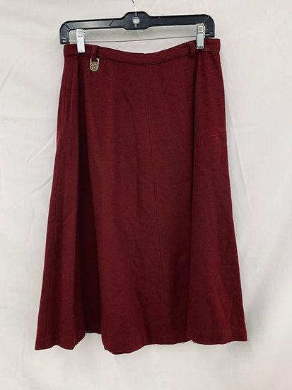 Vintage Summit Sportwear size 14 Burgundy Wool Skirt