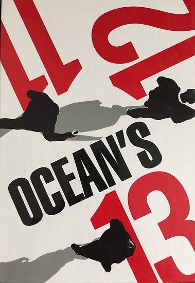 OCEANS 11, 12,13 (DVD 3 disc Box Set)