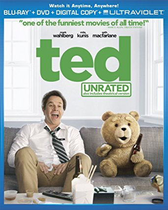 USED-Ted (Blu-ray Disc, 2012, 2-Disc Set, Unrated Includes Digital Copy UltraVio
