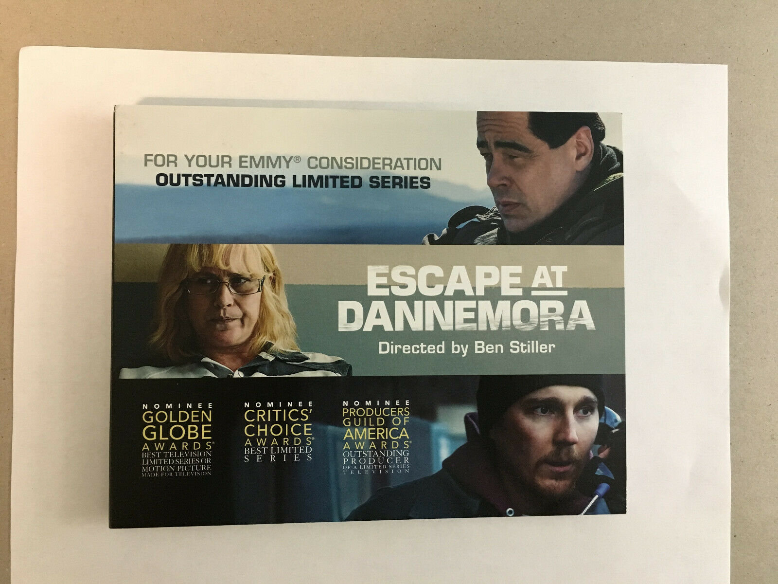 copy of FYC 2019 ESCAPE AT DANNEMORA DVD (2) Pressbook EMMY SHOWTIME