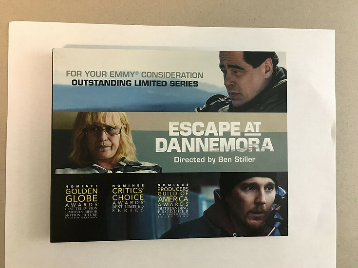 FYC 2019 ESCAPE AT DANNEMORA DVD (2) Pressbook EMMY SHOWTIME