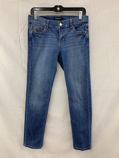 WHITE HOUSE BLACK MARKET Women's size 4R Slim Ankle Blue Jeans