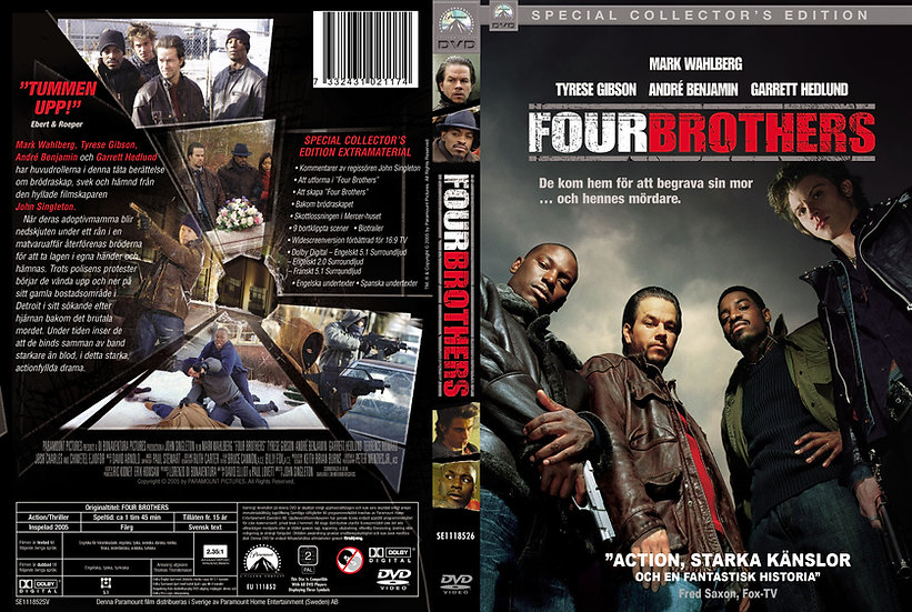 Four Brothers (DVD 2005 Region 1) Special Collector's Edition Widescreen