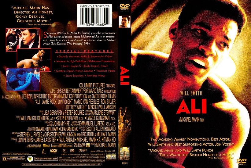 USED-Ali (DVD)  Will Smith Jon Voight Jamie Foxx Mario Van Peebles Ron Silver