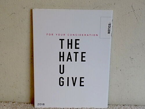 FYC 2019 THE HATE U GIVE DVD Pressbook Emmy