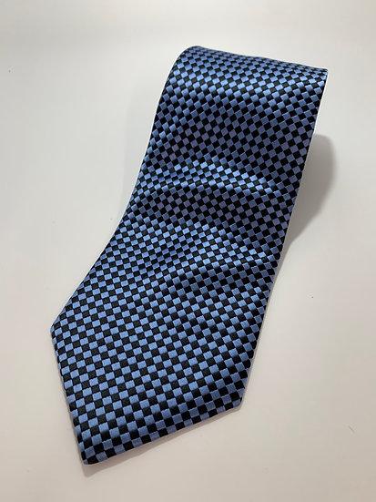 Verie God Brand 100 % Silk Blue Check Tie