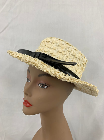 Vintage Sailor Style Woven Straw Summer Hat Emme Boutique