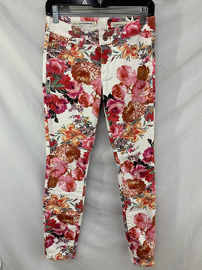 Anthropologie PILCRO and the LETTERPRESS Flower Mid Rise Skinny Jeans Sz 25