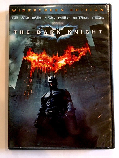 The Dark Knight (DVD, 2008) Widescreen Edition Christian Bale, Michael Cain, Hea